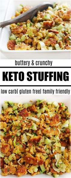 Our keto stuffing recipe is going to be a favorite at all of your holiday meals. It is super simple and has all the traditional flavors. If you are looking for a holiday recipe everyone will eat (without making a low carb and regular version) this is it!  http://healthyquickly.com