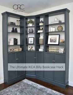 Thoughts On Effortless Secrets In Easy Living Room Decor Ideas - Friend Decorates Living Room Bookcase, Corner Bookshelves, Built In Bookcase, Living Room Decor, Ikea Living Room Storage, Bookshelf Design, Bathroom Storage, Ikea Billy Hack, Ikea Billy Bookcase Hack