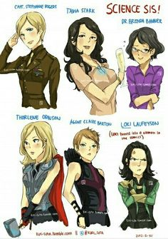 Gender-swapped avengers and Loki. Does he join the Avengers somewhere I don't… Dc Memes, Marvel Memes, Marvel Dc Comics, Hulk Marvel, Avengers Memes, Marvel Funny, Marvel Art, Female Avengers, The Avengers