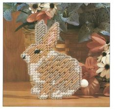 DIGITAL PATTERN  BUNNY MAGNET GIFT TAG PLASTIC CANVAS 7 CT