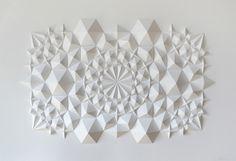 New Geometric Paper Art from Matthew Shlian http://www.thisiscolossal.com/2012/08/new-geometric-paper-art-from-matthew-shlian/