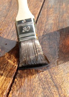 Make your own DIY wood stain with vinegar and steel wool. It's the perfect stain for antiquing and weathering wood furniture.