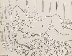 Henri Matisse, Dina a la couverture fleurie, 1941 Matisse Prints, Matisse Paintings, Figure Sketching, Figure Drawing, Drawing Board, Life Drawing, Henri Matisse, Matisse Drawing, Summer Drawings