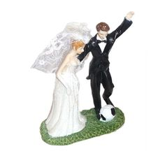Football Bride & Groom Cake Topper Product Code : CTWC8