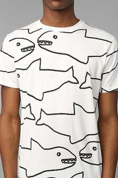 Lazy Oaf Sharks Tee...I know it's on a guy but I love this shirt