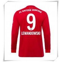 Camisa de Futebol Bayern Munchen Robert Lewandowski #9 Equipamento Principal 2019-20 Manga Comprida Robert Lewandowski, Munich, Camisa Barcelona, Thomas Muller, Champions, Football Shirts, Shorts, Ronaldo, Real Madrid