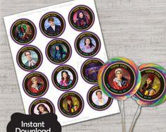 Descendants Party Pack by KaysKoutureKreations on Etsy