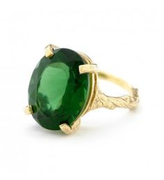 Beauty in the Wild Ring Emerald Quartz € 199.00 Handcrafted by Chupi Jewellery