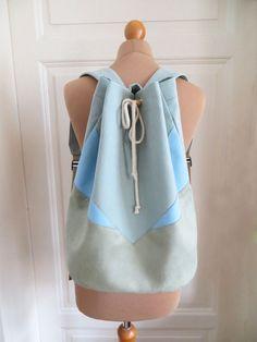 Rucksäcke - Rucksack - Minty light blue - ein Designerstück von AnnaSeewald bei DaWanda
