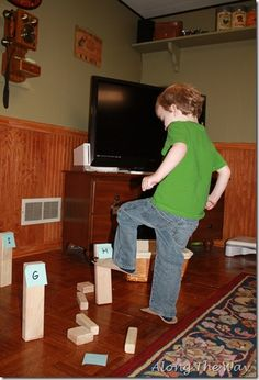 make towers out of blocks and tape various sight words to each tower and have the boys knock the tower with the correct word over that I call out