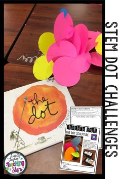 Are you looking for engaging activities for your elementary classroom for International Dot Day?  The Dot by Peter H. Reynolds is wonderful book that teaches the growth mindset in an inspiring and fun way.  Students will design and construct dot sculptures. Easy to implement these two STEM Challenges into your elementary classroom. Promote critical thinking and creativity.   #stem #elementaryclassroom #teacherspayteachers #tpt