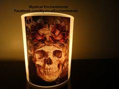 Day of the Dead votive tea light holder by MYSTICALLYENCHANTING, $5.75