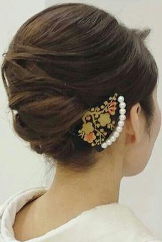 Down Hairstyles, Girl Hairstyles, Wedding Hairstyles, Japanese Hairstyle, Hair Reference, Wedding Hair Down, Hair Dos, Exotic, Kimono