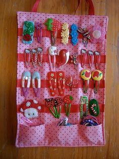 porta-presilhas de meninas