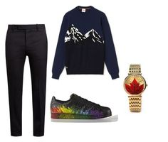 """""""Untitled #95"""" by heta-makinen on Polyvore featuring Marni, adidas, Lacoste, men's fashion and menswear"""
