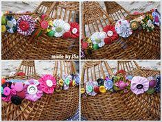 """The second life of an old basket customized with """"yoyos"""" / La 2ème vie d'un vieux panier en osier chiné / customisé avec des yoyos !"""
