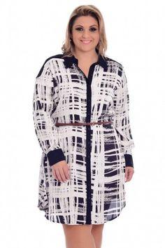 Vestido Duo Color Plus Size