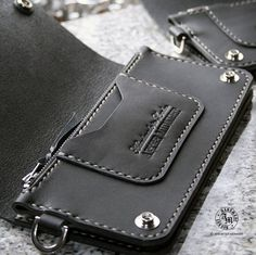 Trucker Wallet Biker Wallet Hand Stitched por AfterMidnightLondon