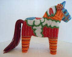 Swedish Dala Horse-Storytelling Beaded Creation