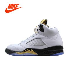 0ceea4ce590d New Arrival Official Nike Air Jordan 5 Retro AJ 5 Men s Breathable Basketball  Shoes Sports Sneakers