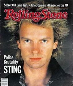 And then he met his wife, an editor for Rolling Stone Japan. (she interviewed Sting!)