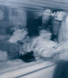 Gerhard Richter ou l'art de la narration par le flou : sans le flou, ce tableau serait anodin. Là, l'imaginaire fait naître une foule d'histoires.