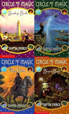 Circle of Magic series by Tamora Pierce http://www.goodreads.com/series/43551