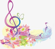 Flowers And Music Symbol Image, Music Clipart, Flowers . School Wall Decoration, Music Clipart, Music Doodle, Image Clipart, Music Tattoo Designs, Music Symbols, Music Drawings, Music Wallpaper, Music Pictures