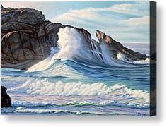 Surf Canvas Print by Paul Krapf