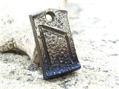 Uruz Celtic Rune Pendant - blacksmith forged wrought iron steel viking charm gift jewelry