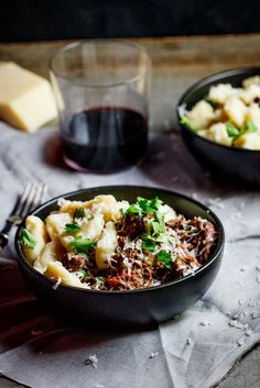 Beef ragu with Parmesan gnocchi