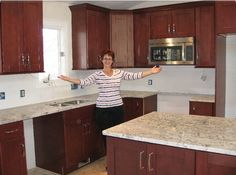 A very exciting moment for this homeowner, as her new kitchen is really coming together!