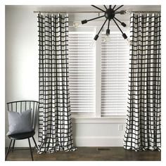 Windowpane Plaid Drapes, Black and White Drapes, Check Drapes, Plaid... ❤ liked on Polyvore featuring home, home decor, window treatments, curtains, mid century curtains, mid century modern window treatments, black and white curtains, black white curtains and black and white home decor