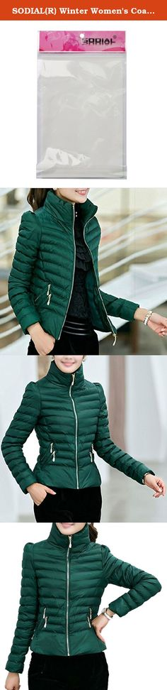 SODIAL(R) Winter Women's Coats Slim Office Epaulet Zippers Ladies Jackets Coat Dark Green L. * SODIAL is a registered trademark. ONLY Authorized seller of SODIAL can sell under SODIAL listings.Our products will enhance your experience to unparalleled inspiration. SODIAL(R) Winter Women's Coats Slim Office Epaulet Zippers Ladies Jackets Coat Dark Green L Product Description Color: Dark Green Size(CM): L--Chest:94--Shoulder:38--Sleeve:57--Length:59;Fit Weight:42.5-52.5KG Hooded:No Fabric...