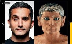 Ancient and modern Egyptian comparison.