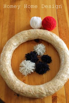 homey home design: Independence Day Wreath