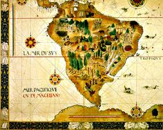 Mapa Antigo do Brasil  - Cartografia                                                                                                                                                                                 Mais