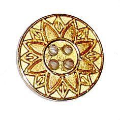 Fancy Gold Platted button (29L) 3/4 50% Off on 144 Pieces
