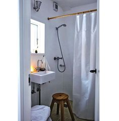 Thinking of redoing a small bathroom? Here's a modest but appealing Scandinavian design detailed with affordable fixtures, faucets, and accessories.