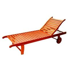 Vifah Roch Single Adjustable Patio Chaise Lounge  sc 1 st  Pinterest : chaise lounge home depot - Sectionals, Sofas & Couches