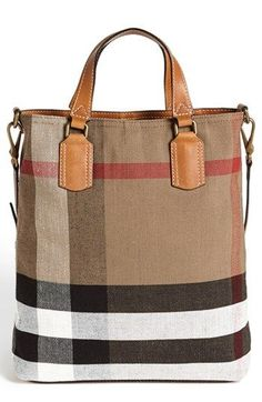 Free shipping and returns on Burberry Brit 'Tottenham – Medium' Tote at Nordstrom.com. Classic checks and smooth leather trim add signature sophistication to an earthy canvas tote topped with an optional crossbody strap for effortless, on-the-go v