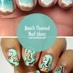 Beach Themed Nail Ideas summer nails beach nail art nail designs