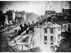 Boulevard du Temple, 1838