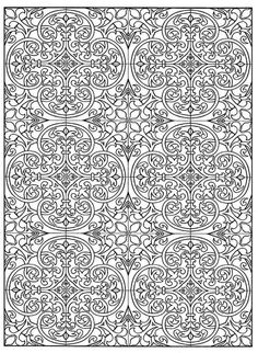 Page 23 from Decorative Tile Designs by Marty Noble Free Adult Coloring, Adult Coloring Book Pages, Cool Coloring Pages, Mandala Coloring Pages, Printable Coloring Pages, Coloring Sheets, Coloring Books, Colorful Drawings, Colorful Pictures