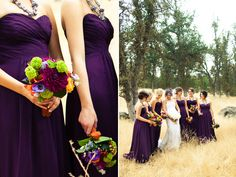 eggplant bridesmaids