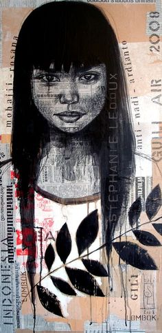 Stephanie ledoux #figurative #portrait #art #mixedmedia #collage