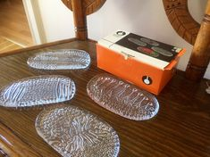 set of original box/scandinavian/heavy/crystal/uno westerberg by WifinpoofVintage on Etsy Glass Dishes, Different Patterns, Hand Blown Glass, Scandinavian, My Etsy Shop, Plates, The Originals, Crystals, Handmade