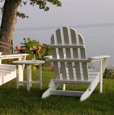 From sea side to pool side, the Polywood Classic Folding Adirondack Chair is a great option for maintenance-free outdoor comfort. Anarondak Chairs, Beach Chairs, Outdoor Chairs, Outdoor Decor, Backyard Chairs, Pink Chairs, Garden Chairs, Rustic Chair, Rustic Furniture