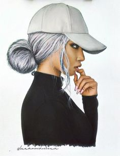 Black girl with cap