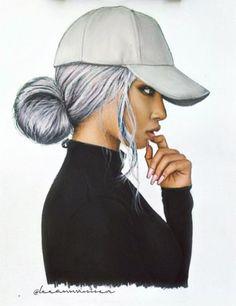 Black girl with cap